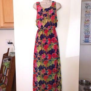 W118/Walter Baker artistic garden maxi dress/NWT